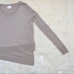 Wilfred Librement Thin Knit Sweater XXS in Taupe